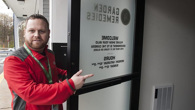 Garden Remedies Chief Operating Officer Jeffrey Herold at the company's dispensary in Marlborough.