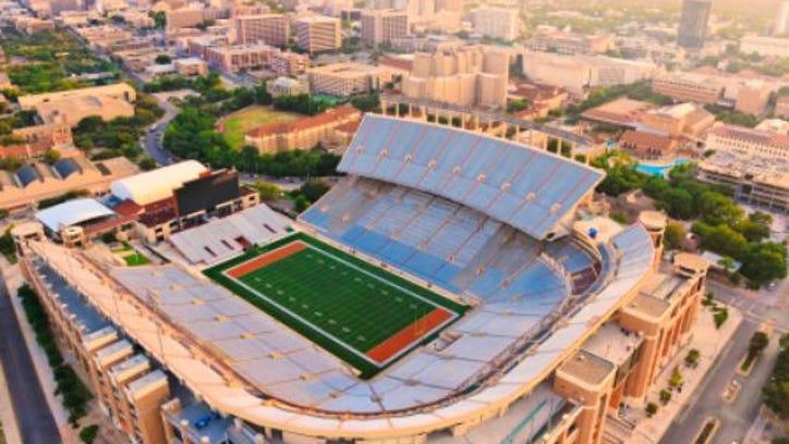 University of Texas Football Stadium - Aerial View