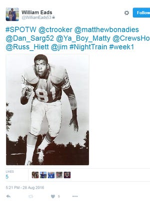 An example of a special teams player of the week MTSU players tweet out each week.