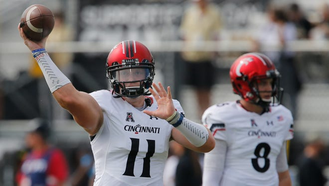 Gunner Kiel (11) is just one of the three QBs Cincinnati has used this season.