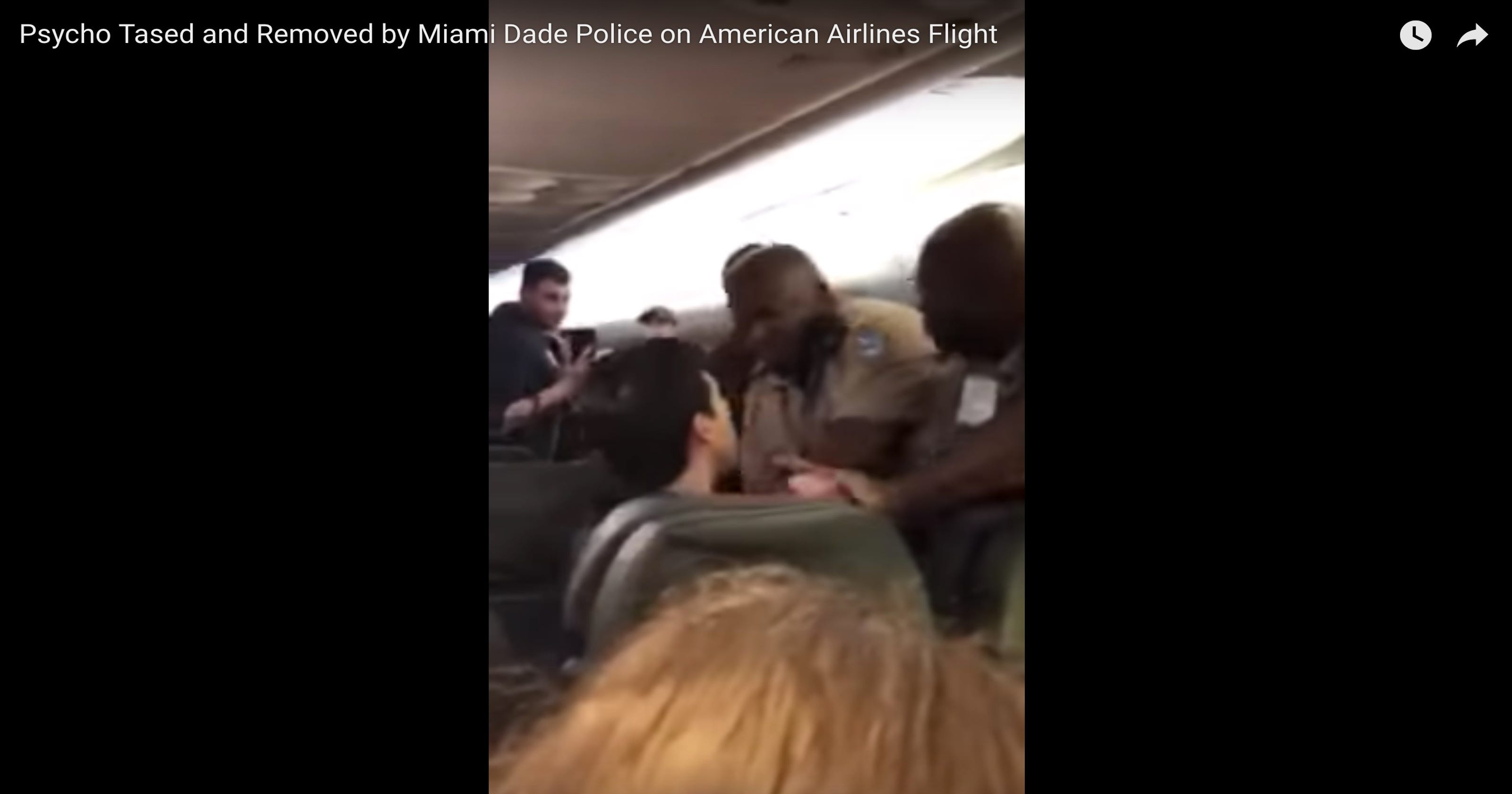 American Airlines passenger tased 10 times, removed from plane