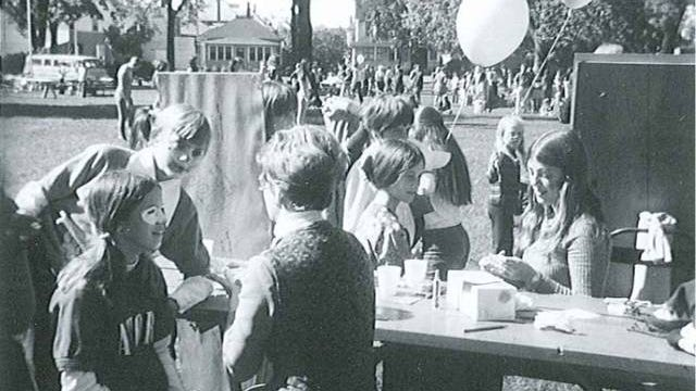 Before the Octagon Art Festival received its current name, it was called Art In the Park. Here is an image from the very first celebration in 1970. Contributed photo