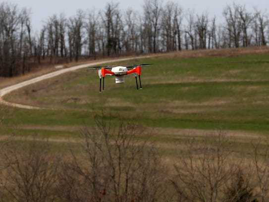A fully autonomous drone flies back to its landing