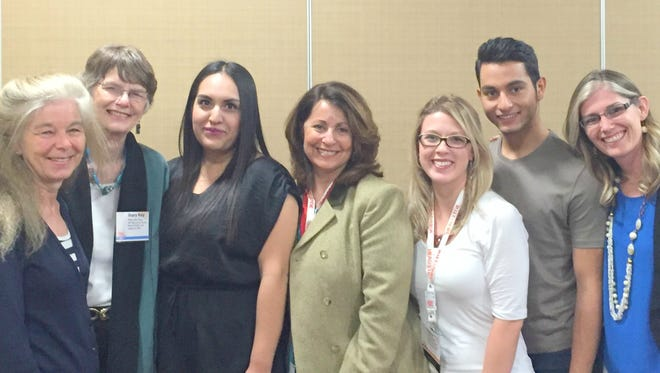 The newly elected board members of the New Mexico Alliance for School-based Health Center: (from left) Susan Wilger, Mary Kay Pera, Italia Aranda Gonzalez, Theresa Hidalgo, Caitlin Adams, Edgar Cruz, and Amylia Ellis. Not pictured: Marnie Nixon.