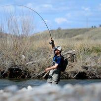 Jeremiah Watt hooks a fish while fishing Belt Creek. Small streams open to fishing Saturday, May 16.