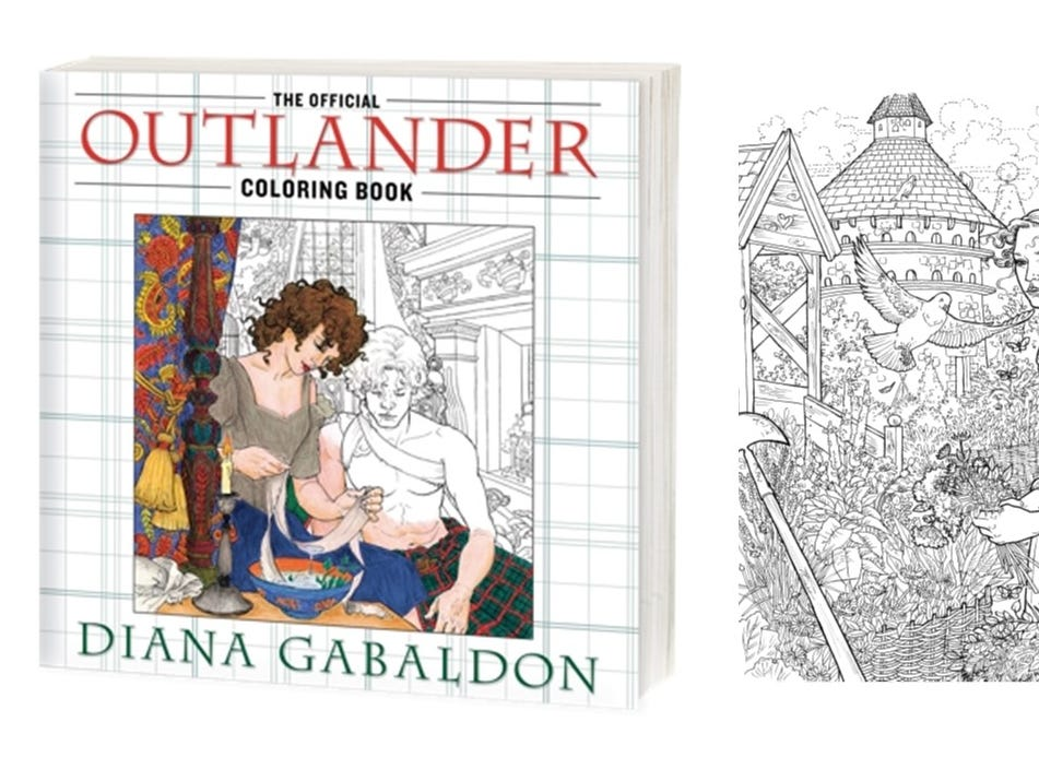 In honor of the season 3 premiere on 9/10, enjoy this NEW page from the official 'Outlander' coloring book.