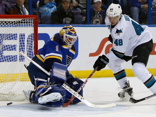 AP SAN JOSE SHARKS BLUES HOCKEY S HKN USA MO