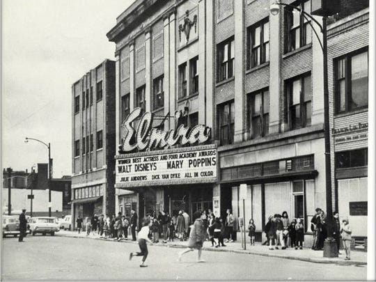 The venue's time as the Elmira Theater featured mainly film showings. It was flooded during Hurricane Agnes in 1972.