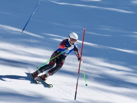 Mount Shasta High's Carter Chase won the girls ski slalom race by nine seconds Tuesday at the Mt. Shasta Ski Park with a two-run time of 1 minute, 39.56 seconds.