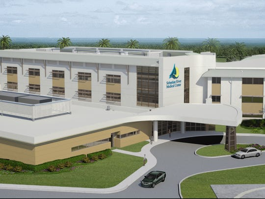 An artist's rendering of Sebastian River Medical Center