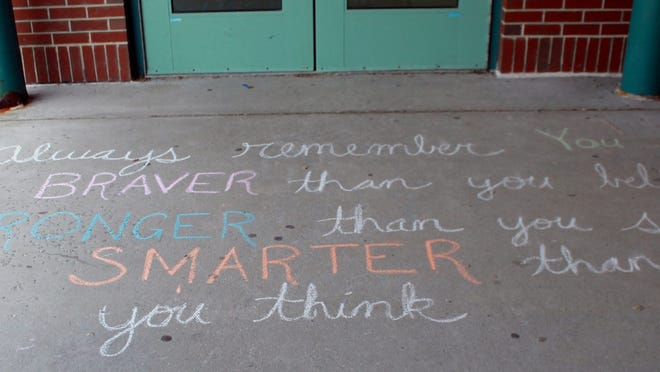 A quote from Dr. Seuss greeted staff returning to Clinton Elementary School this week.