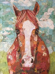 """Red Paper Painting"" by Cheryl Tarrant."