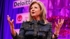 Thrive Global founder and CEO Arianna Huffington speaks