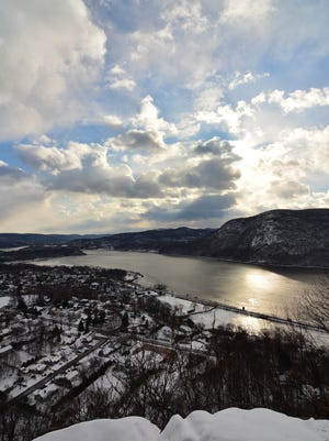 View of Cold Spring and the river as seen from Table Rock.
