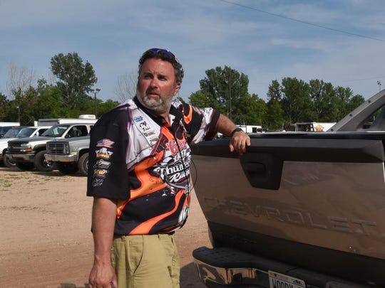 """Thunderhill Raceway promoter Bryan """"Woody'' Wodack, shown at the track during its June 28 program, hopes to continue promoting races at the Door County track."""