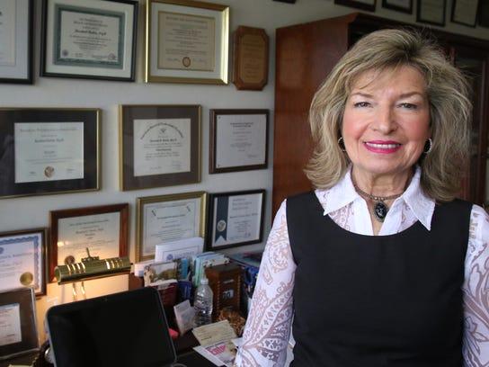 Rosalind Dorlen, a PhD clinical psychologist pictured