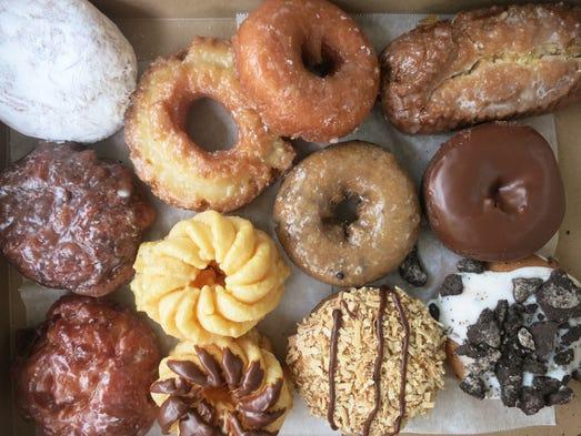 An assorted dozen from the new Daily Dozen doughnuts
