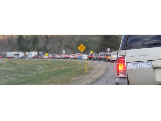 Traffic on the way to penn state s last home game in
