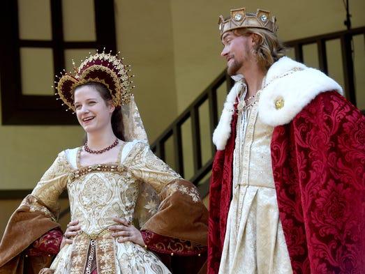 Megan Jones, left, and Zach Minder are portraying Queen