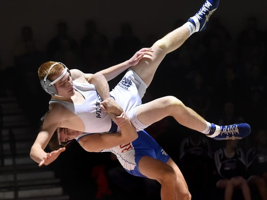 Spring Grove's Jake Meyer takes down Dallastown's Garrett