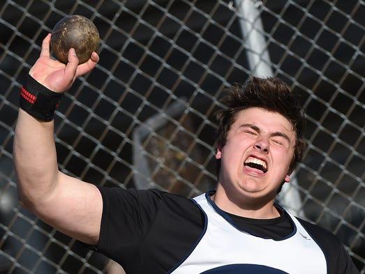 Tony Nelo, a senior with Dallastown High School threw