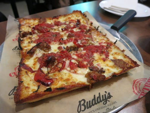 The Ultimate Italian thin-crust pizza at the new Buddy's