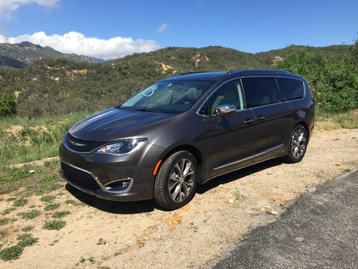 The 2017 Chrysler Pacifica minivan is photographed