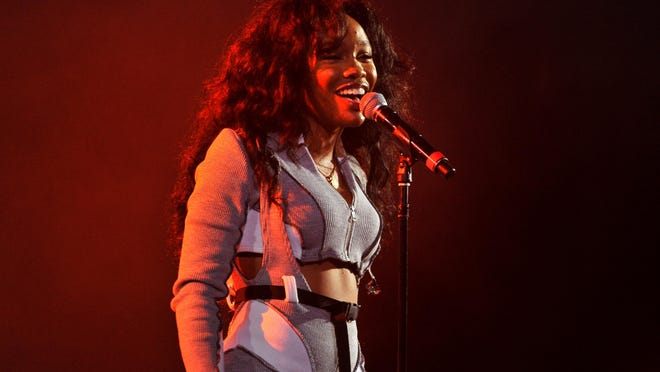"""SZA performs onstage at Vevo Halloween 2017 at Craneway Pavilion in October in Richmond, California. The 27-year-old's """"Ctrl"""" album is at the forefront of the alternative R&B movement."""