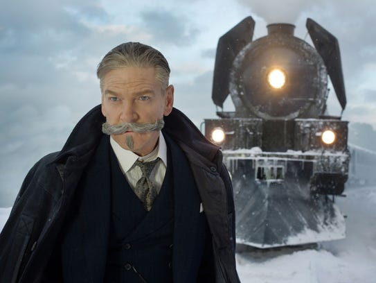 Kenneth Branagh and his mustache star as famed detective Hercule Poirot in 'Murder on the Orient Express.'