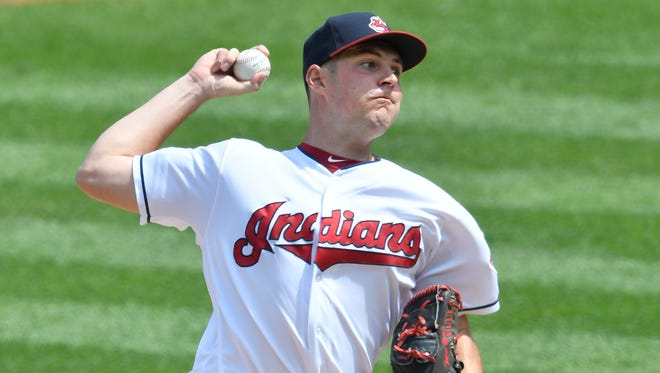 Cleveland Indians starting pitcher Trevor Bauer has 157 strikeouts in 139 1/3 innings.