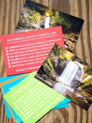 Transylvania County Tourism Development Authority (TCTDA) has released cards containing a photograph of a local waterfall on the front and important warnings and safety information on the back. Last year six people died in waterfall accidents in the county. The cards are part of a new campaign launched last week, along with public land agencies andÊemergency services, to educate on the dangers of these beautiful, natural wonders.
