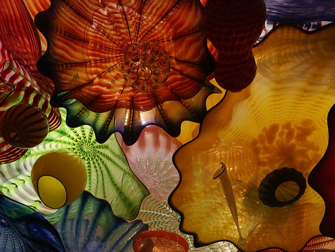 "The ""Oklahoma Persian Ceiling"" by Dale Chihuly was part of the world's largest permanent display of Chihuly blown glass at the Oklahoma City Museum of Art."