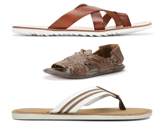 <p>Men's sandals — mandals, if you will — often sink <br /> to Shakespearian depths of tragedy. USA TODAY wades into the trenches of summer sandal options for guys and finds loads of BBQ-worthy sandals with serious sun potential.</p>