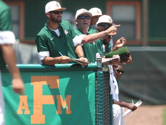 FAMU Head Coach Jamey Shouppe yells out to his team