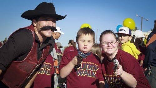 The Buddy Walk, which raises awareness and support for Down Syndrome, took place during the NMSU Homecoming Parade. Another event, Buddy Day, will take place Saturday at Pioneer Park.