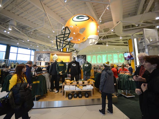 More than half of last year's local revenue increase of $12.9 million was because of Packers Pro Shop sales.