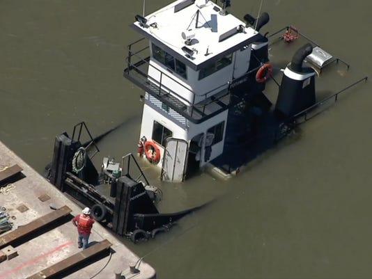 Submerged tugboat