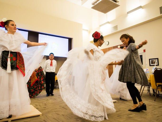 Members of Malinalli perform at the annual Hispanic