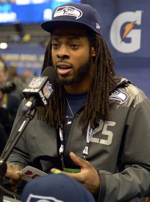 Seattle Seahawks cornerback Richard Sherman answered questions at Super Bowl XLVIII media day for over an hour.