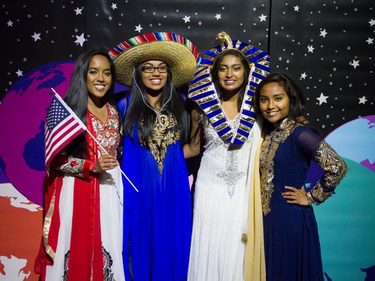UNR students pose for a picture during the Nov. 18, 2016 34th annual Night of All Nations, a event put on by the school's International Club