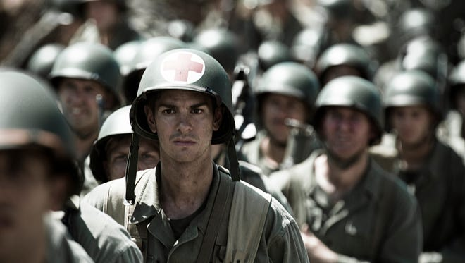Andrew Garfield stars as a combat medic who won't touch a gun in the war drama 'Hacksaw Ridge.'