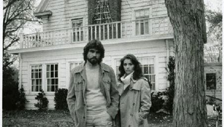 """A 1979 publicity still of James Brolin and Margot Kidder outside the Dutch Colonial house at 18 Brooks Road in Toms River, where the original """"The Amityville Horror"""" was filmed. A 1979 publicity still of James Brolin and Margot Kidder outside the Dutch Colonial house at 18 Brooks Road in Toms River, where the original """"The Amityville Horror"""" was filmed."""