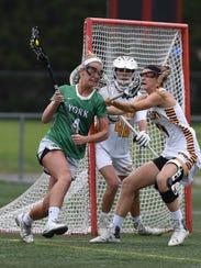 Salisbury's Kristin Murphy holds off York's Allison