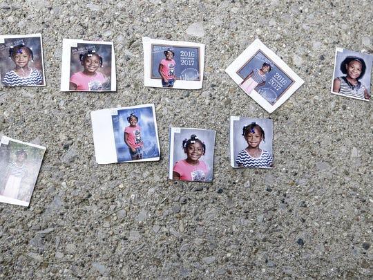 Photos of the four children — Keyana Davis, 11; Keyara
