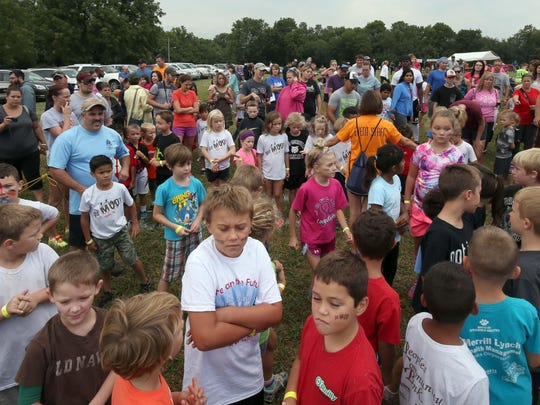 Youngsters line up before the Got Mud? Run in Republic