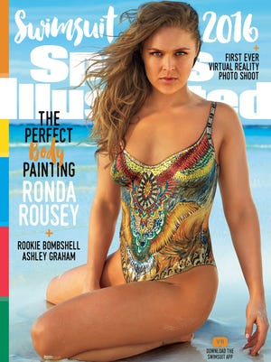Ronda Rousey on the cover of the Sports Illustrated Swimsuit Issue 2016.