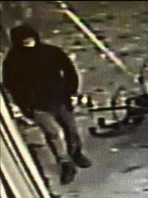 A suspect in the burglary of a Federalsburg gun store is shown in this surveillance image.