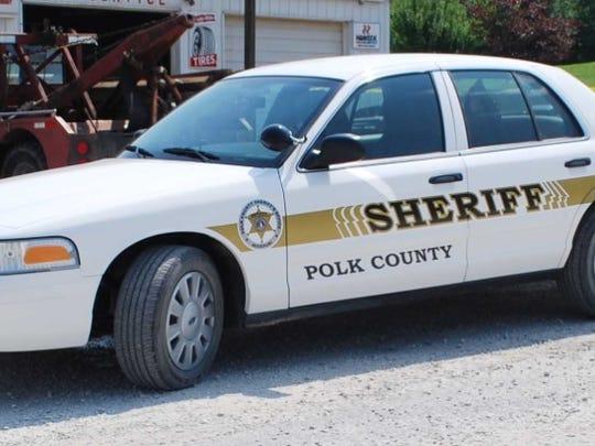A Polk County Sheriff's vehicle