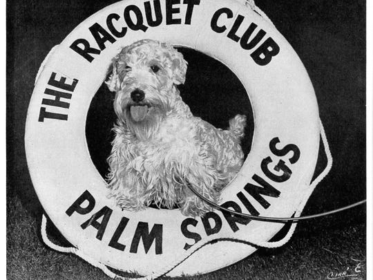 Palm Springs Christmas advertisement from the late 1940s-1950s,