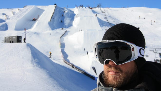 Mike Slaughter of Mountain Home surveys his surroundings recently at an event in New Zealand. Slaughter will coach the men's and women's halfpipe teams for Canada in the Winter Olympics, which begin Thursday in South Korea.